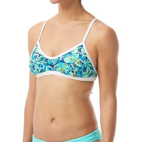 TYR Malibu Crosscut Tieback Bikini Top Damen turquoise